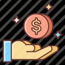 commission, influencer, money icon