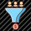 conversion, influencer, money icon