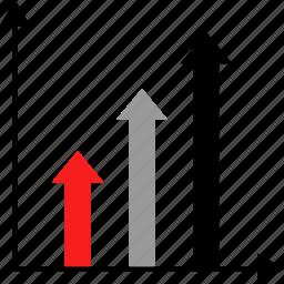 arrows, diagram, graphic icon