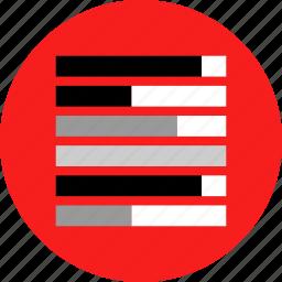 chart, data, graphic icon
