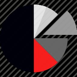 chart, compare, diagram, divide icon