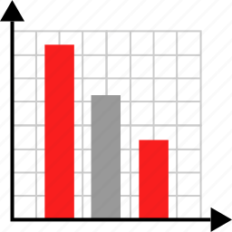 graphic, low, numbers icon