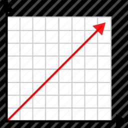arrow, high, math, numbers icon