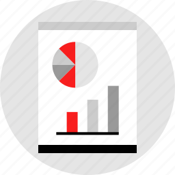 data, graphic, page, report icon