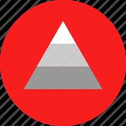graphic, pyramid, up icon