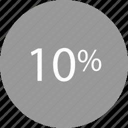 percent, rate, ten icon