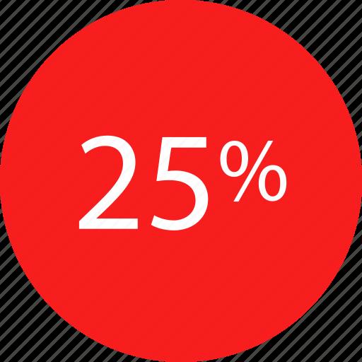 five, percent, rate, twenty icon
