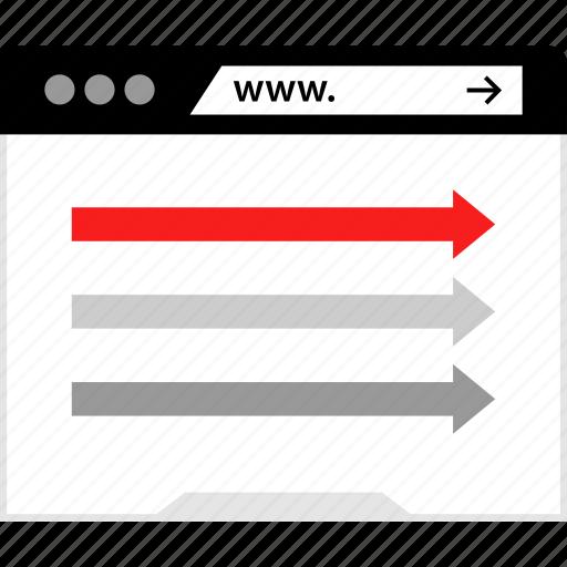 arrows, online, web, www icon