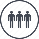 data, information, three, users icon