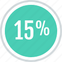 data, fifteen, info, information, percent icon