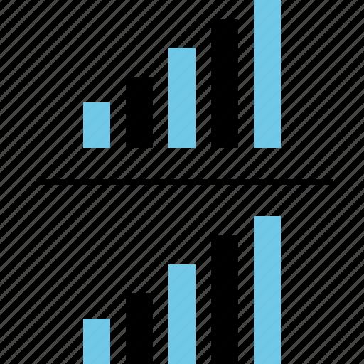 chart, comparison, graph, report icon