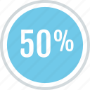 half, off, percent, save, savings icon