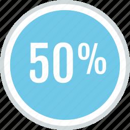 guardar, half, off, percent, save, savings icon