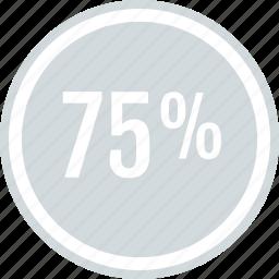 off, percent, save, savings, seventyfive icon