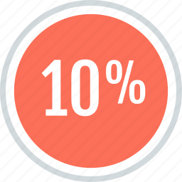 info, information, percent, ten icon