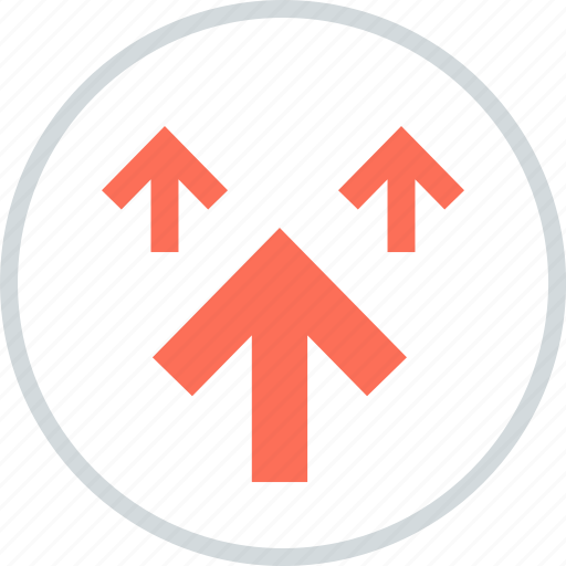 Arrows, point, pointing, three, up icon - Download on Iconfinder