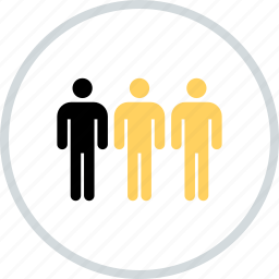 business, information, man, three, users icon