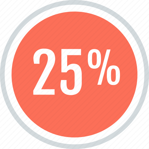 ave, interest, percent, rate, savings, twentyfive icon