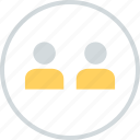 info, information, two, users icon