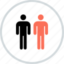 business, man, profile, two, users icon