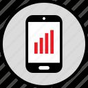bars, data, infographic, mobile, seo, web icon