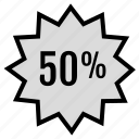 data, fifty, infographic, percent, rate, seo, web icon
