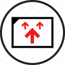 arrows, data, infographic, seo, up, upload, web icon