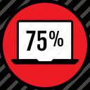 data, five, infographic, laptop, percent, seo, seventy icon