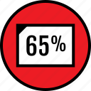 data, infographic, percent, rate, seo, sixtyfive, web icon