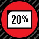 data, infographic, percent, rate, seo, twenty, web icon
