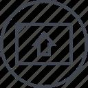 arrow, pointer, up, web icon