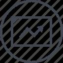 analytics, arrow, point, seo, web icon