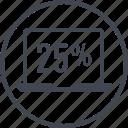 data, five, information, percent, twenty icon