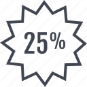 five, percent, percentage, rate, twenty icon