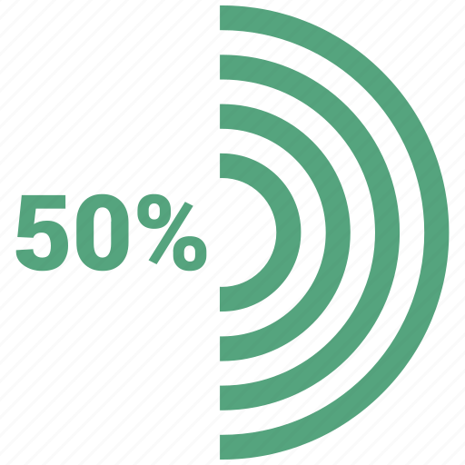 50, infographic, graph, circle chart, 50 percent, circle graph, fifty icon - Download on Iconfinder