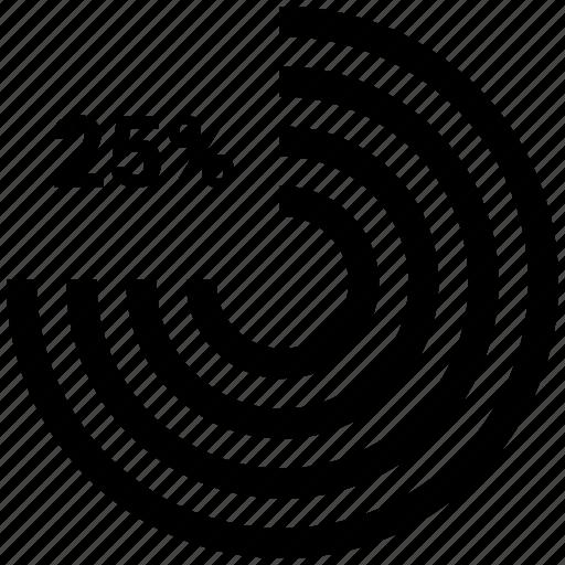 business, chart, pie, ratio, twenty five icon