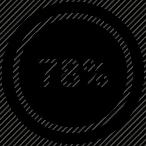 Chart, percentage, pie, seventy eight icon - Download on Iconfinder