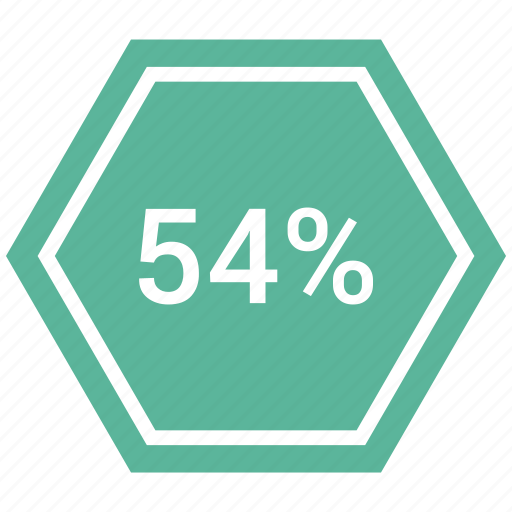 chart, count, forty, four, graphic, percent icon