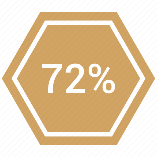 graphic, info, number, percent, seventy, two icon