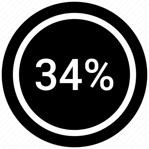 count, four, graphic, number, percent, thirty four icon