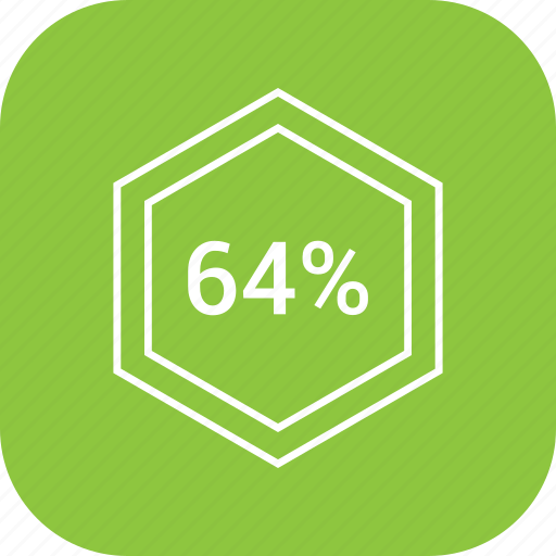 chart, count, four, number, percent, sixty icon