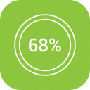 chart, count, graphic, number, percent, sixty eight icon