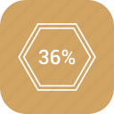 count, graphic, info, number, percent, six, thirty icon