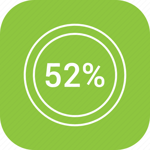 chart, count, fifty two, number, percent icon