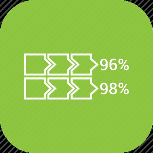 bar, chart, vertical icon