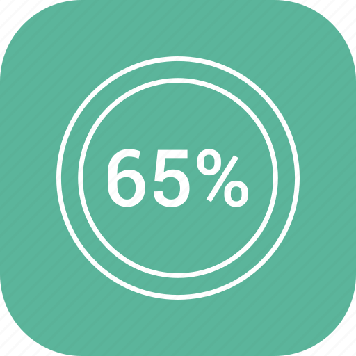 chart, count, five, number, percent, sixty icon