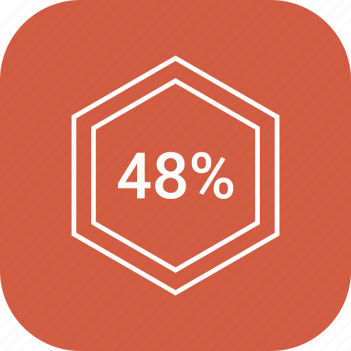 chart, count, eight, forty, number, percent icon