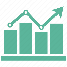analytics, bar, chart, graph, growth, increase, infographic icon