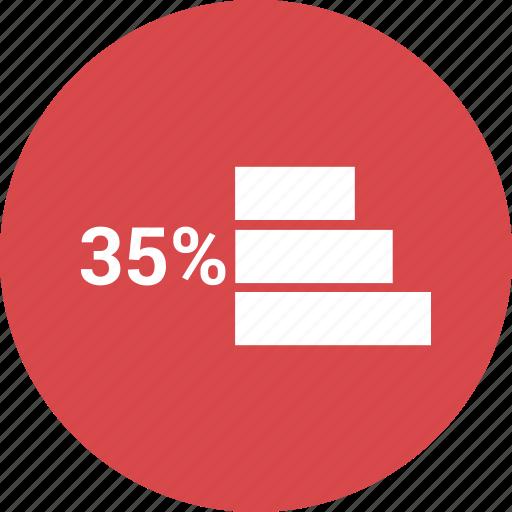 bars, data, percent, thirty five icon