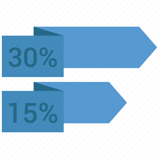 analytics, business, infographic, percent, trends icon
